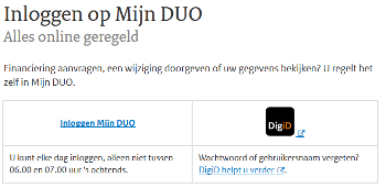Duo login inlogscherm